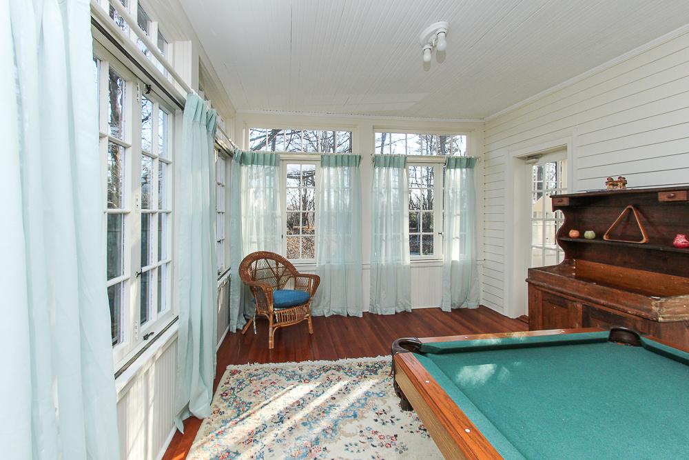 Three season porch with door to family room 160 Locust street Danvers Massachusetts