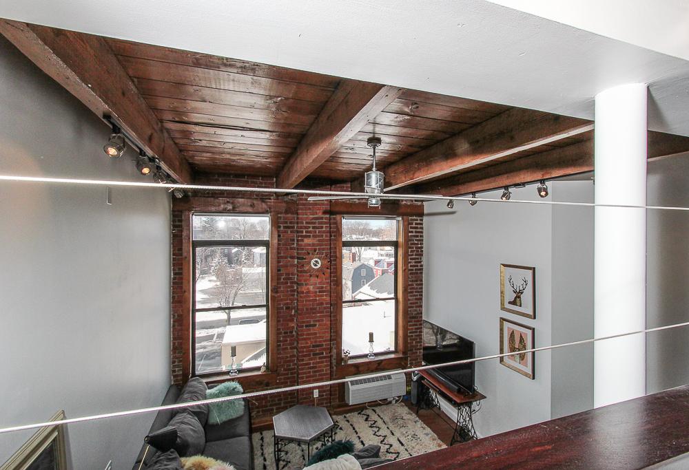 Loft looking over living room 24-303 Norman Street Salem Massachusetts