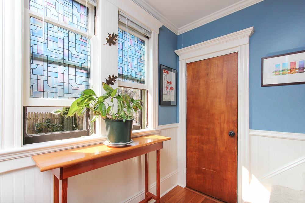 Foyer with windows and closet 25 Porter Street Wenham Massachusetts