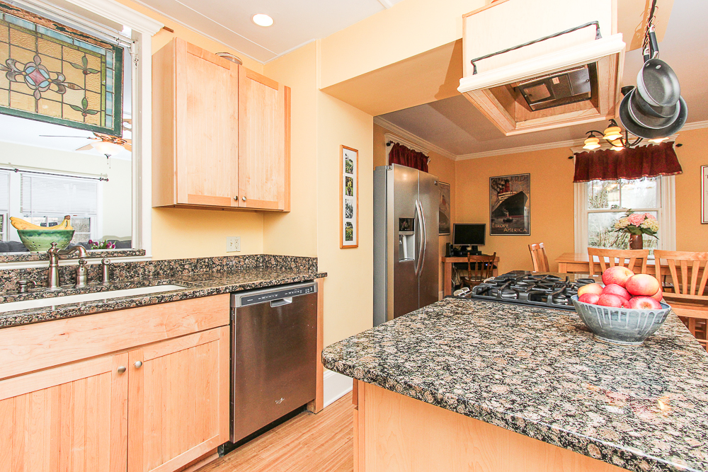 Kitchen with granite island 25 Porter Street Wenham Massachusetts
