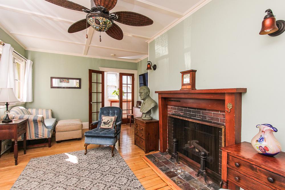 Fireplace in the living room 25 Porter Street Wenham Massachusetts