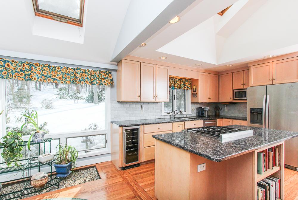 Kitchen with skylights 140 Bridge Street Hamilton Massachusetts