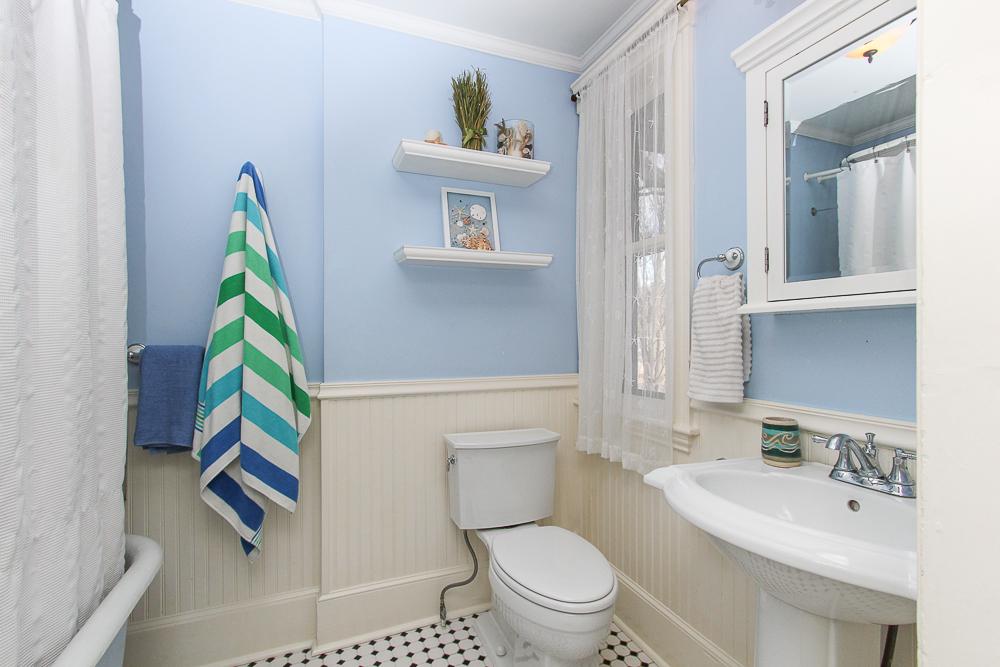 Shared bathroom with tile floor 25 Porter Street Wenham Massachusetts