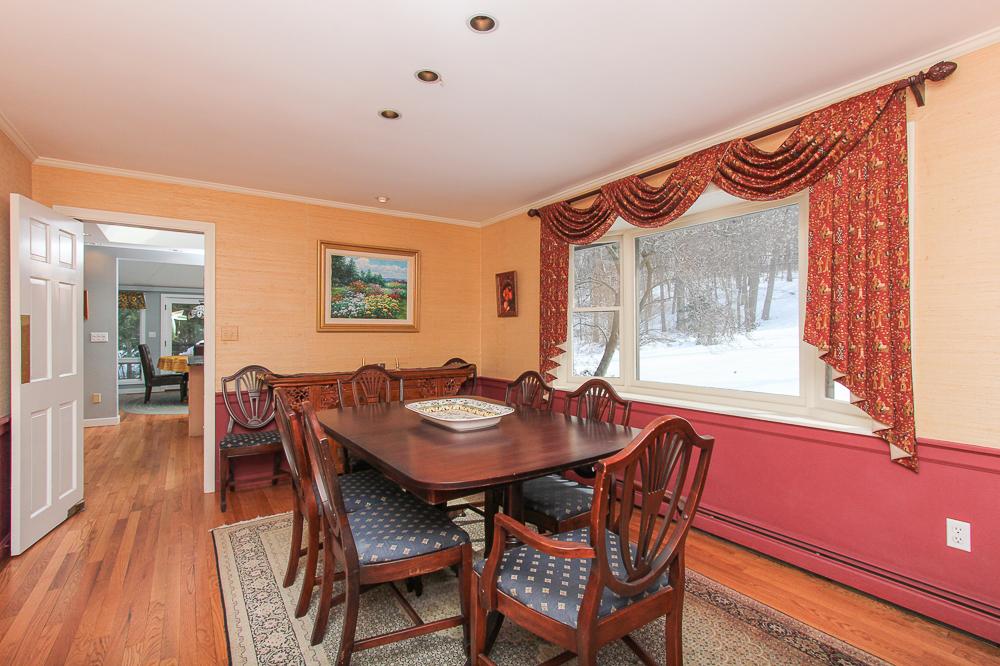 Dining room with hardwood floors 140 Bridge Street Hamilton Massachusetts