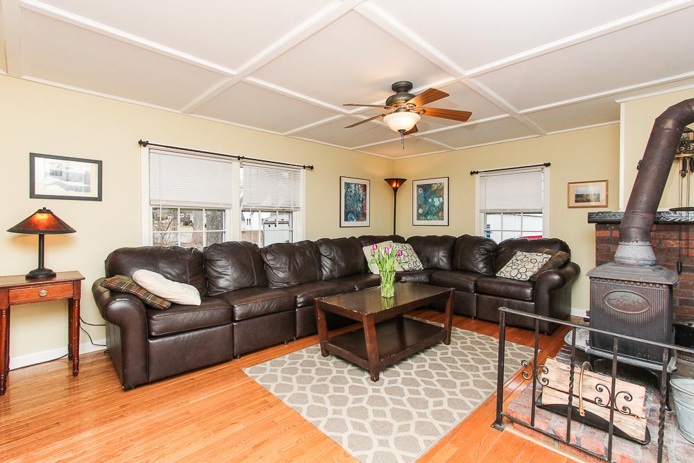 Family room with wood stove 25 Porter Street Wenham Massachusetts