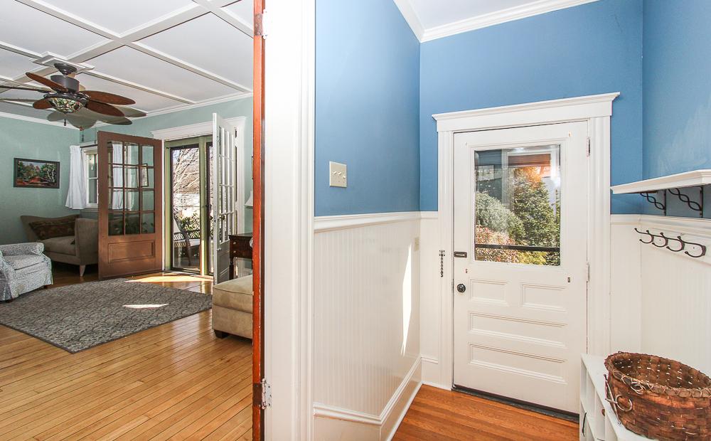Foyer and entrace to the living room 25 Porter Street Wenham Massachusetts