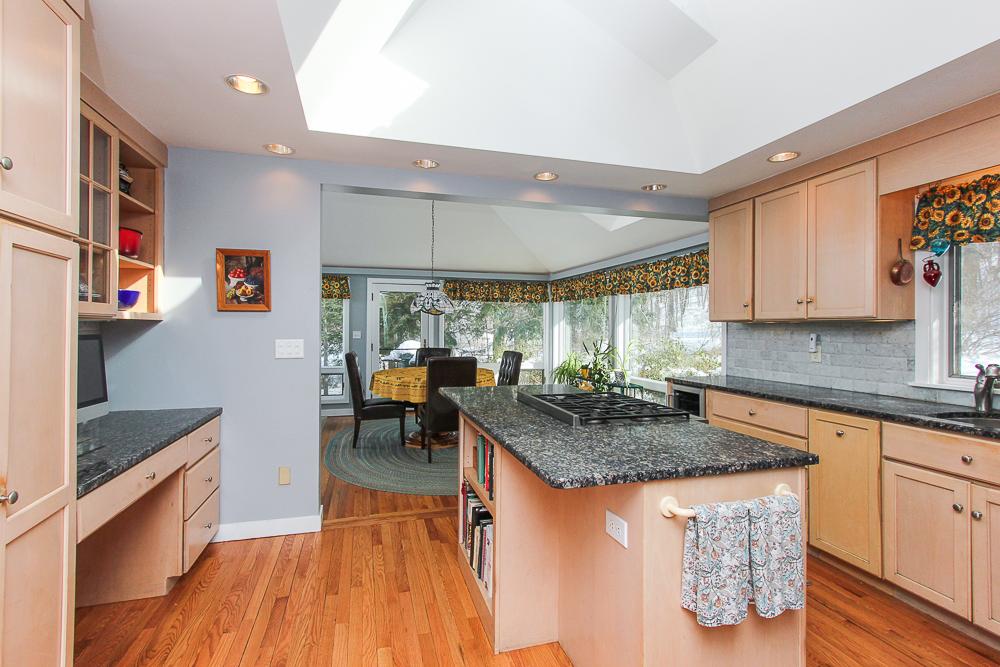 Kitchen with an island 140 Bridge Street Hamilton Massachusetts