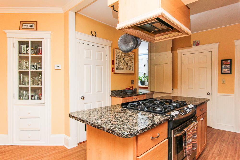Kitchen island with granite counters 25 Porter Street Wenham Massachusetts
