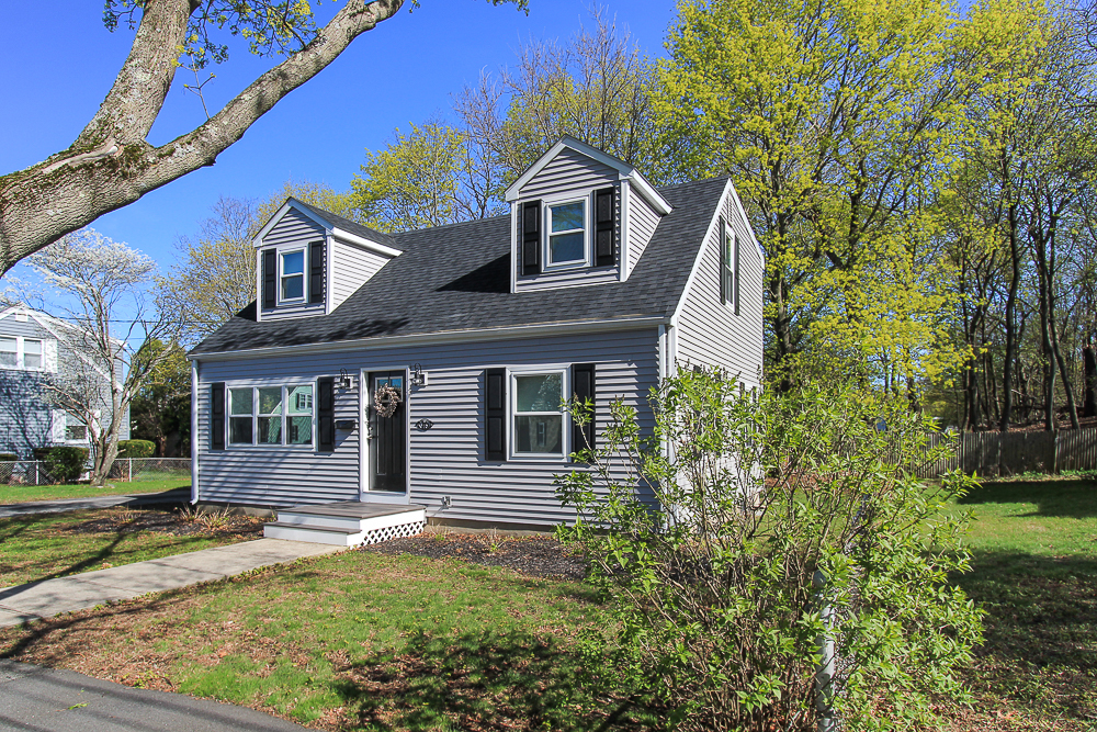 in the Spring the Front of 16 Alden Road Peabody Massachusetts
