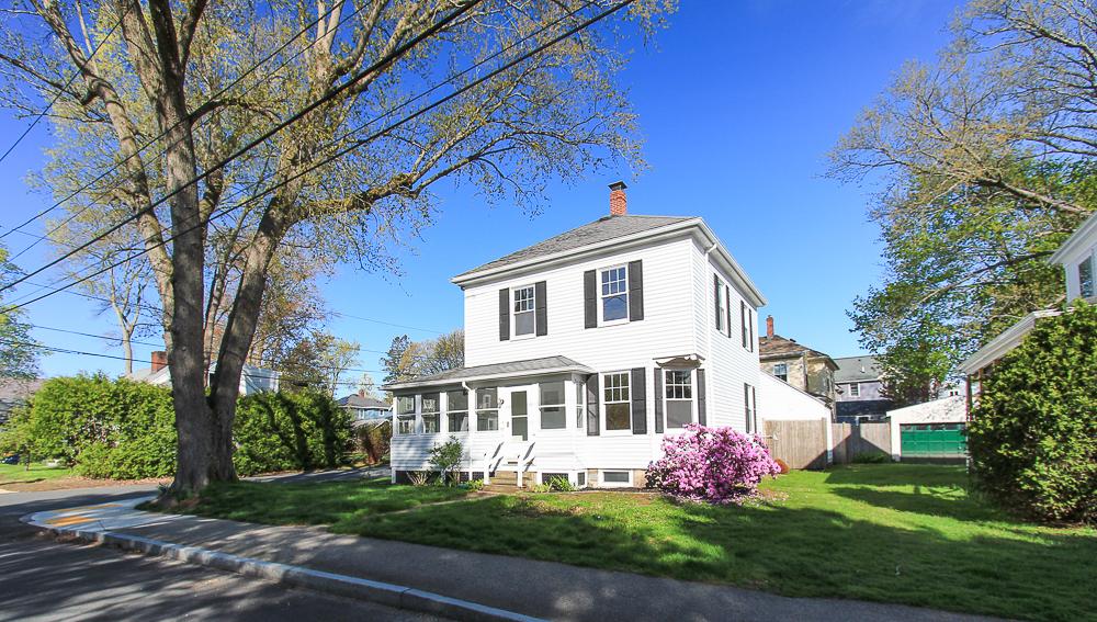 Spring morning sun on 68 Union Street Hamilton Massachusetts