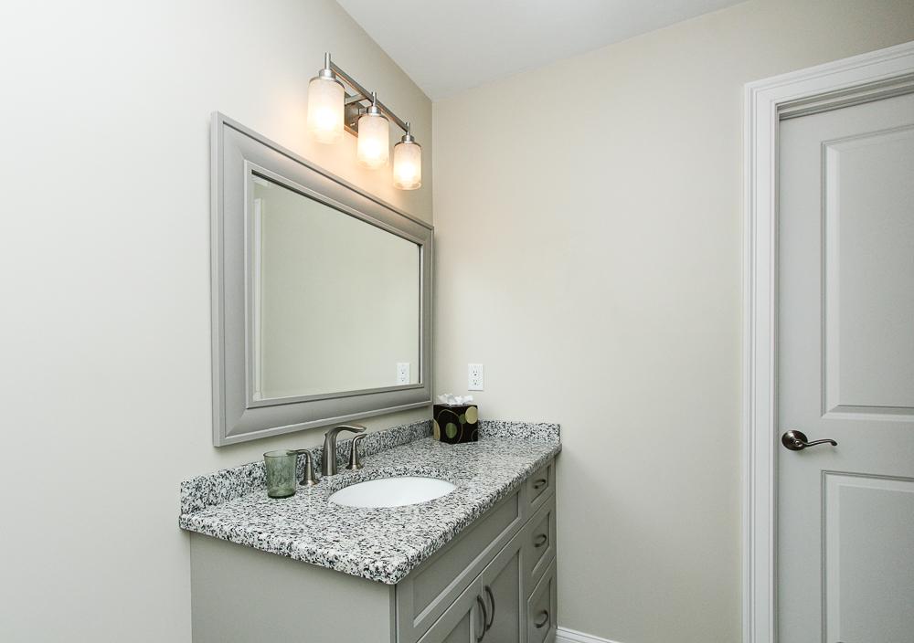 Bathroom in loft with granite counter 1 Patton Drive Hamilton Massachusetts