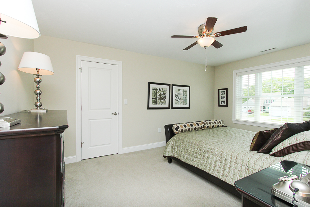 Bedroom with carpet and ceiling fan 1 Patton Drive Hamilton Massachusetts