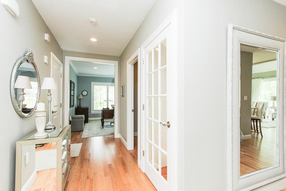 First floor hallway to the office 1 Patton Drive Hamilton Massachusetts