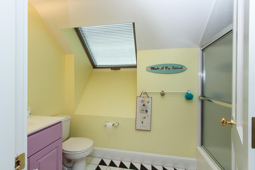 Bathroom with skylight 8 Gussett Road Wenham Massachusetts