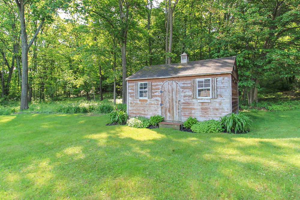 Shed in the yard at 101 Maple Street Wenham Massachusetts