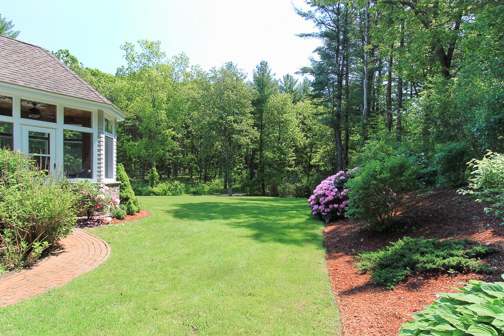 Yard with gardens 18 Beaver Pond Road Beverly Massachusetts