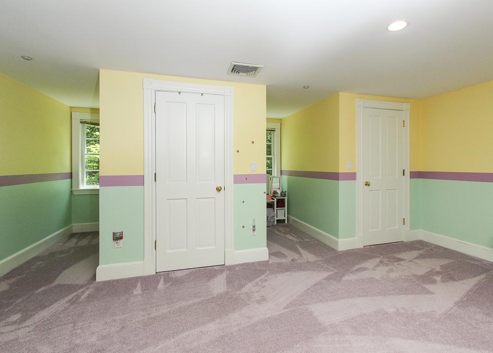 Bedroom double closets and carpet 8 Gussett Road Wenham Massachusetts