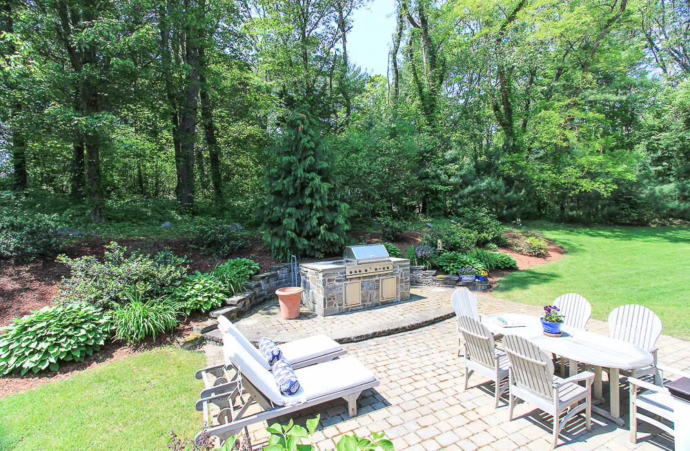 Patio from the deck 18 Beaver Pond Road Beverly Massachusetts