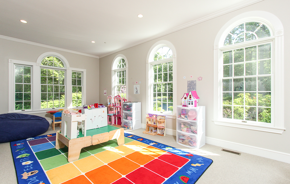 Bonus room with carpet and palladian windows 8 Gussett Road Wenham Massachusetts
