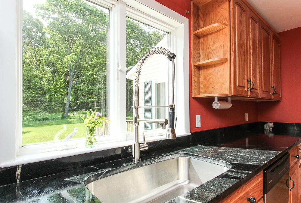 Kitchen soapstone counter and sink 101 Maple Street Wenham Massachusetts