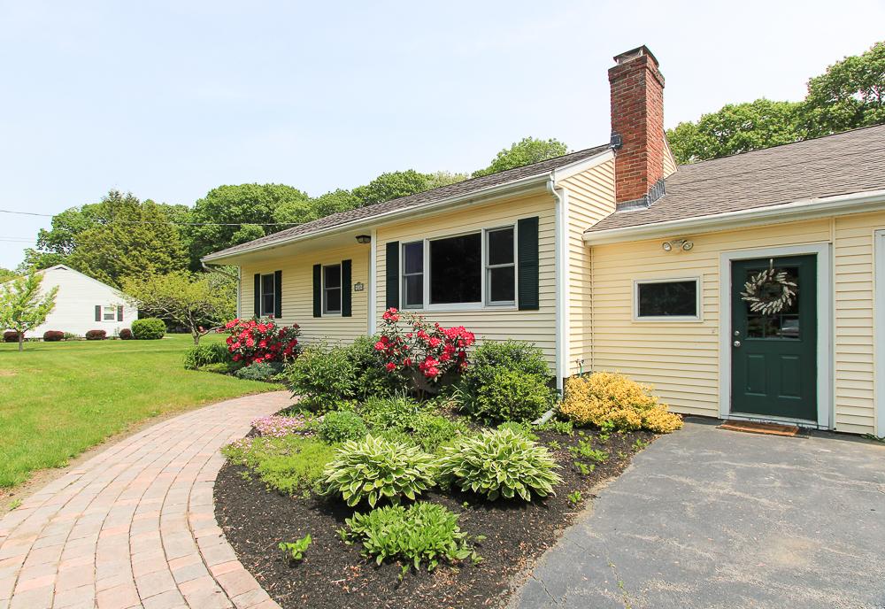 Garden and front of 101 Maple Street Wenham Massachusetts