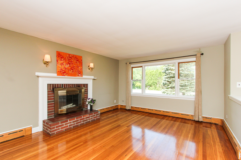 Living room with fireplace 101 Maple Street Wenham Massachusetts