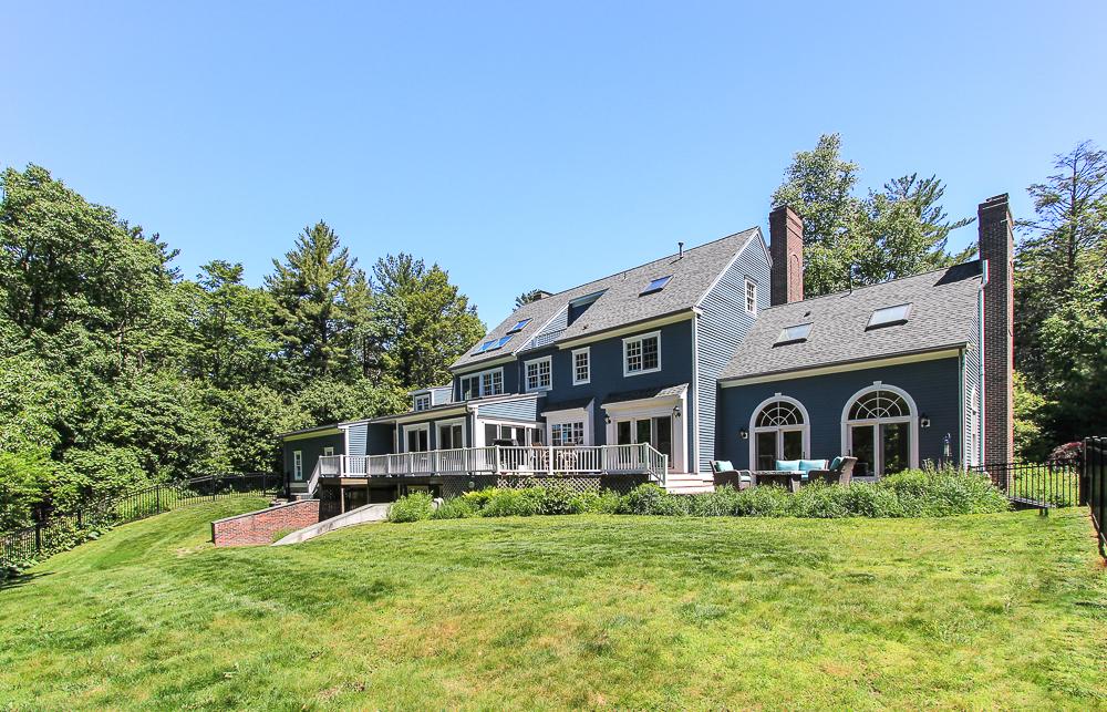 Back of house with deck 8 Gussett Road Wenham Massachusetts