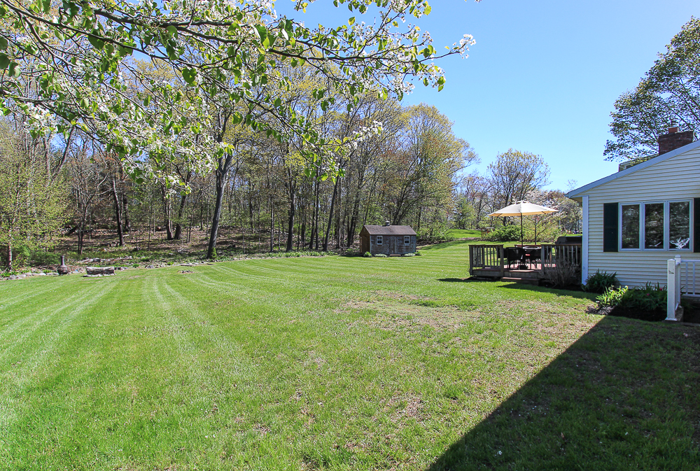 Side yard 101 Maple Street Wenham Massachusetts