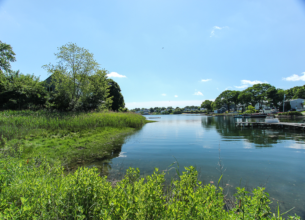 Water view from the road in front of the house 18 Hobart Avenue Beverly Massachusetts