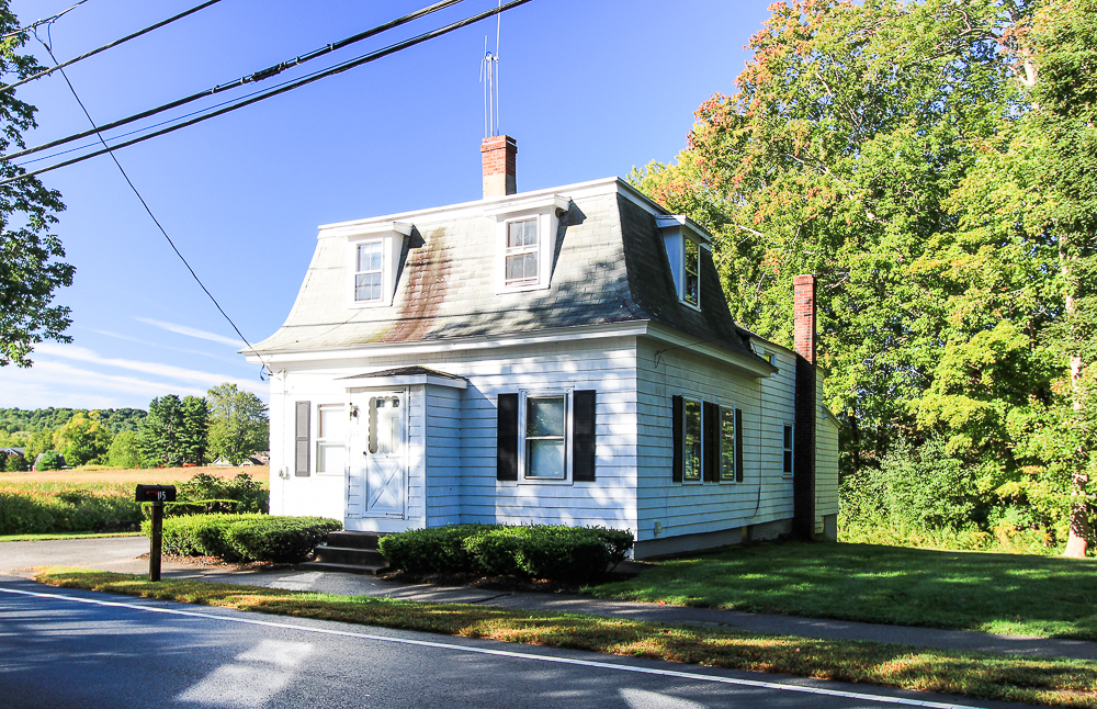 View of the front of the house 115 South Main Street Topsfield Massachusetts