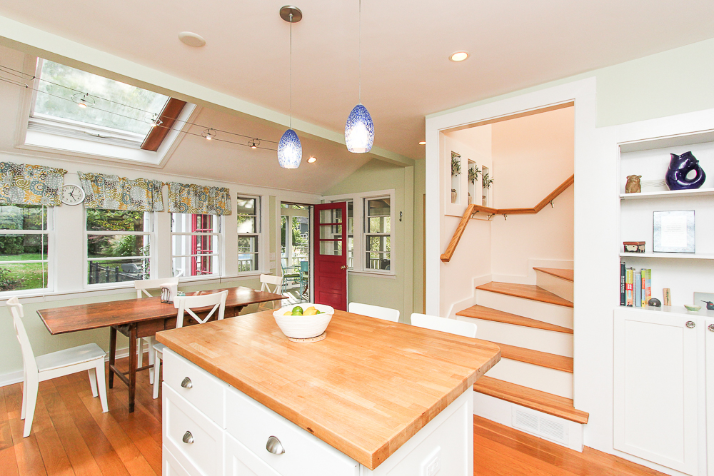 Kitchen and stairway to second floor 72 Hamilton Avenue Hamilton, MA