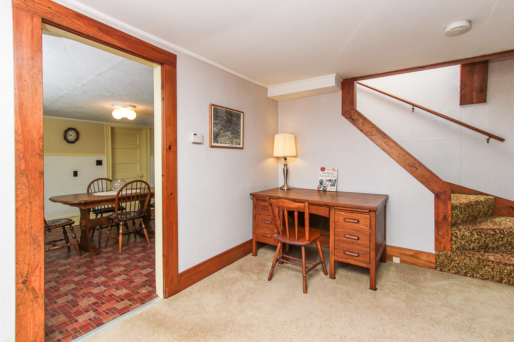 Ofice with stairway to second floor next to the kitchen 115 South Main Street Topsfield Massachusetts