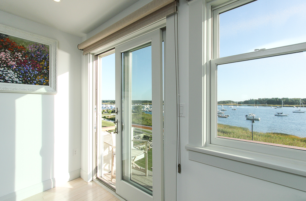 Doors to the deck in the main bedroom 266 Merrimac Street Newburyport Massachusetts - Unit D