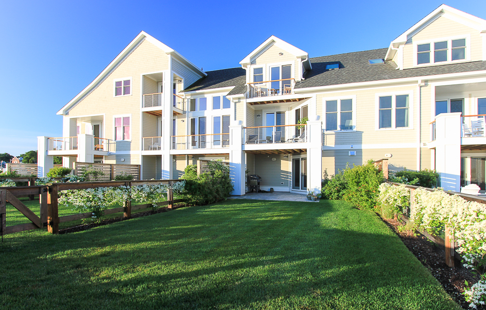 Grass yard, patio and two decks 266 Merrimac Street Newburyport Massachusetts - Unit D