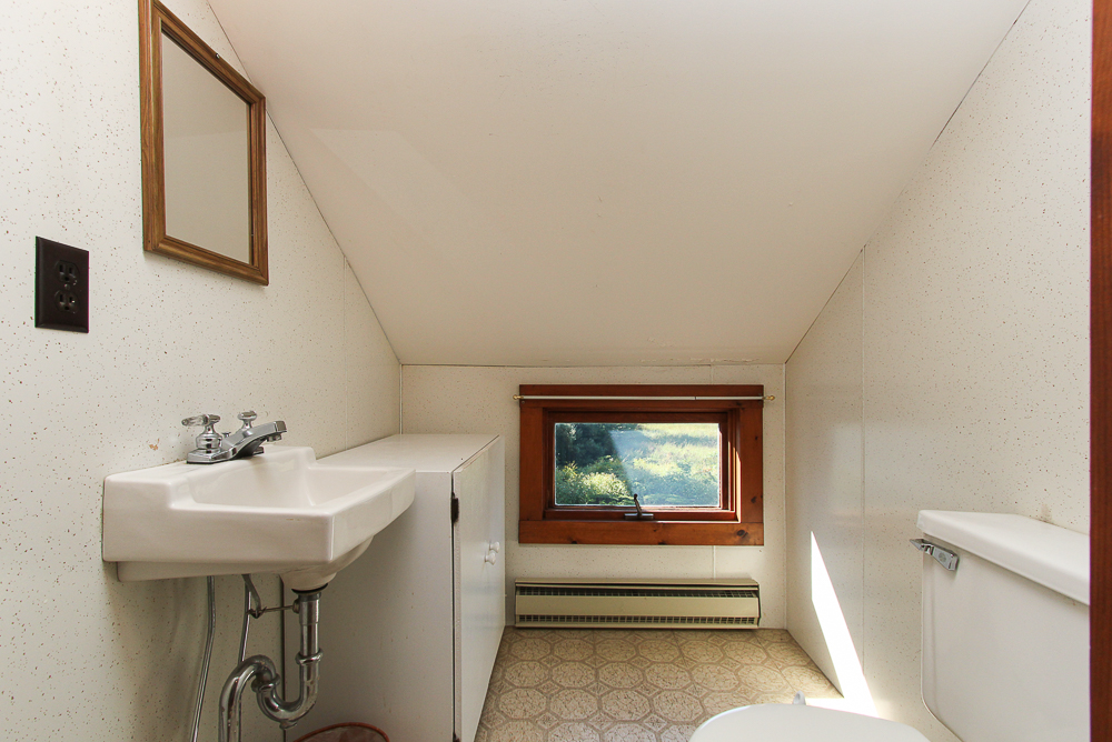 Half bathroom on the second floor 115 South Main Street Topsfield Massachusetts