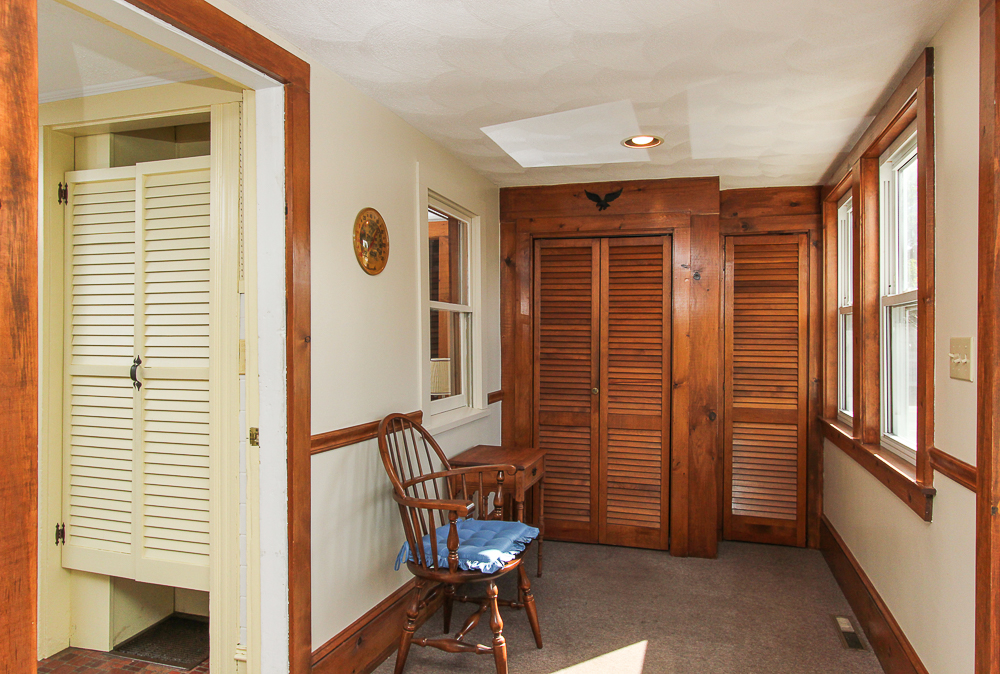 Entry porch with coat closets 115 South Main Street Topsfield Massachusetts