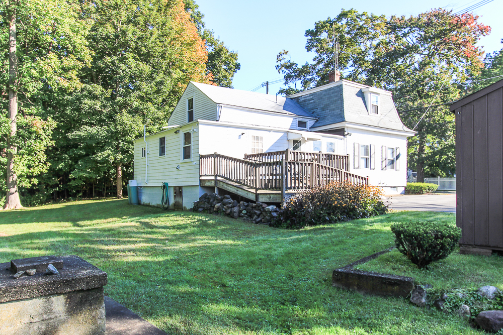 Rear view of the house with deck 115 South Main Street Topsfield Massachusetts