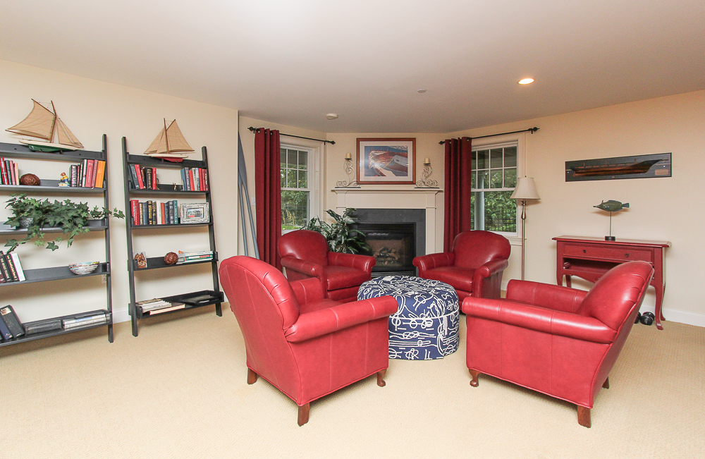 Lower level family room with fireplace 1B Plover Street Gloucester, MA