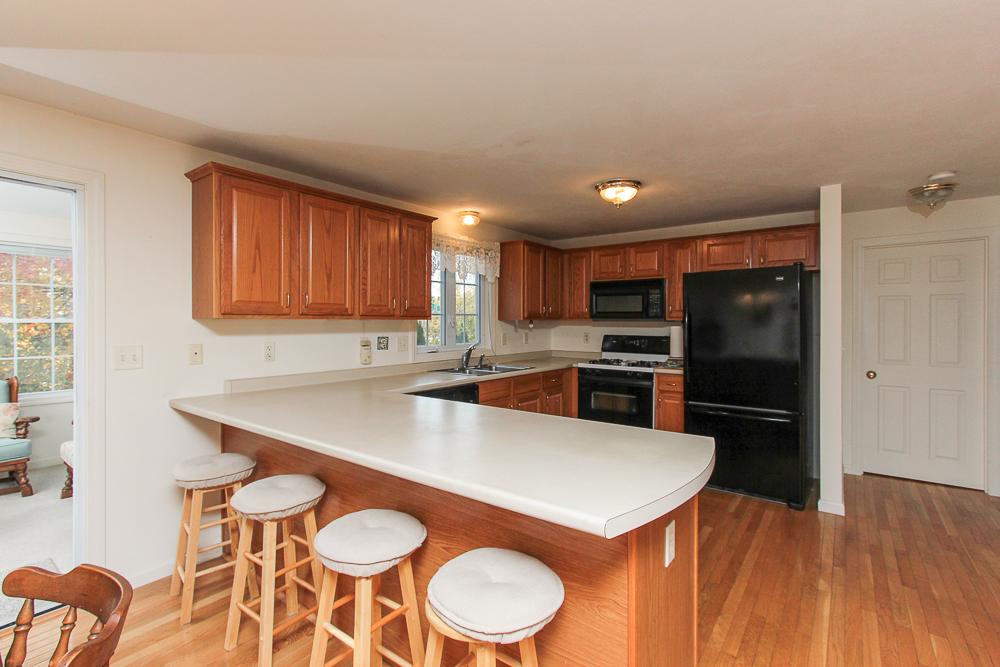 Kitchen with breakfast bar 2 Heather Drive Methuen MA