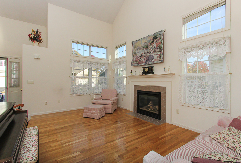 Kiving room with firplace 2 Heather Drive Methuen MA