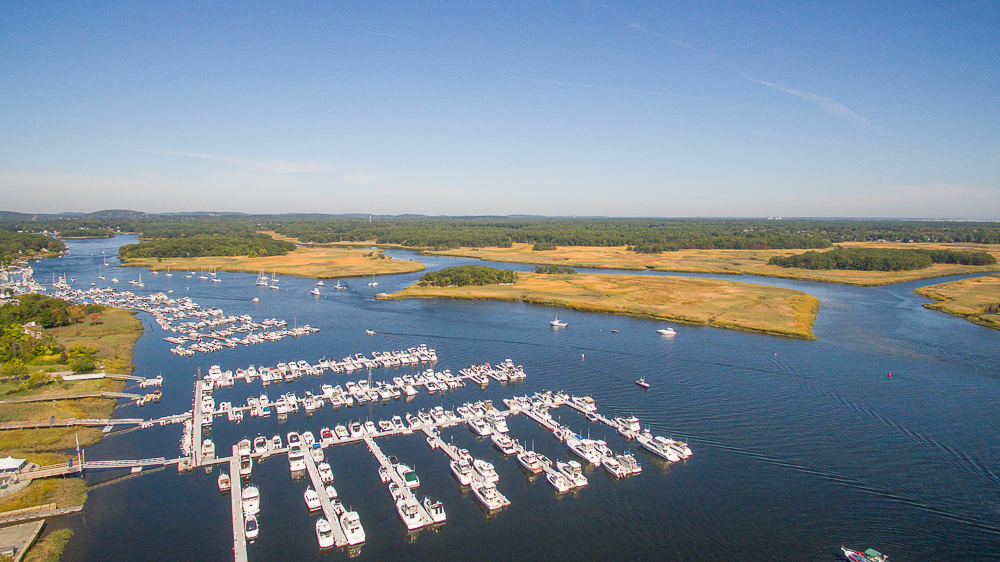 Aerial view of the Merrimac River Newburyport MA