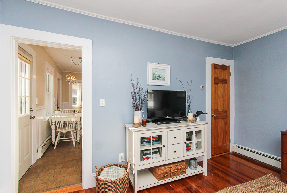 Living room with view of kitchen 14 Herbert Street Salem MA