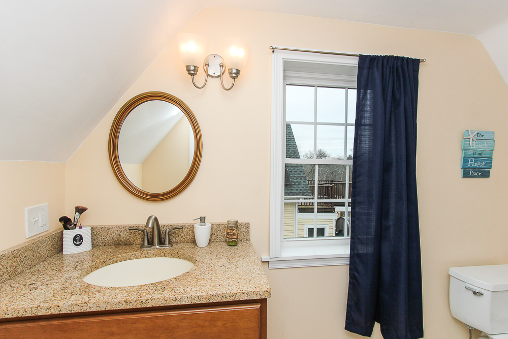 Shared Bathroom with granite counter 229 Highland Street Hamilton MA