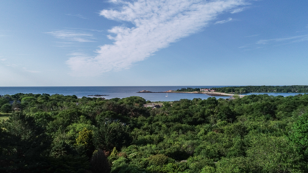 Aerial view of Eastern Point from 27 Edgemoor Road Gloucester MA