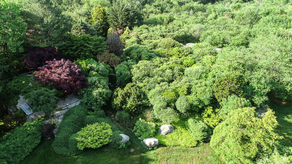 Aerial View of Garden 27 Edgemoor Road Gloucester MA