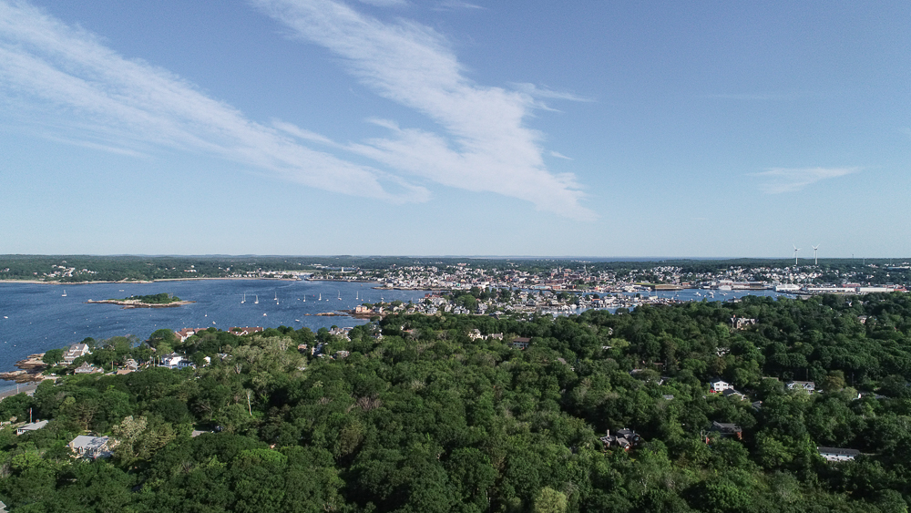 Aerial view of Gloucester Harbor 27 Edgemoor Road Gloucester MA