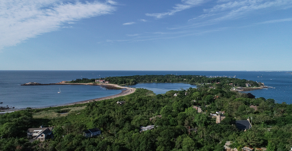 Aerial view of Niles Pond from 27 Edgemoor Road Gloucester MA