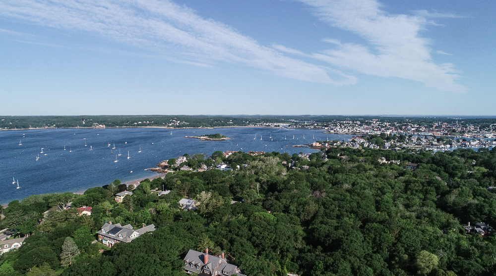 Aerial view of Gloucester Harbor from 27 Edgemoor Road Gloucester MA