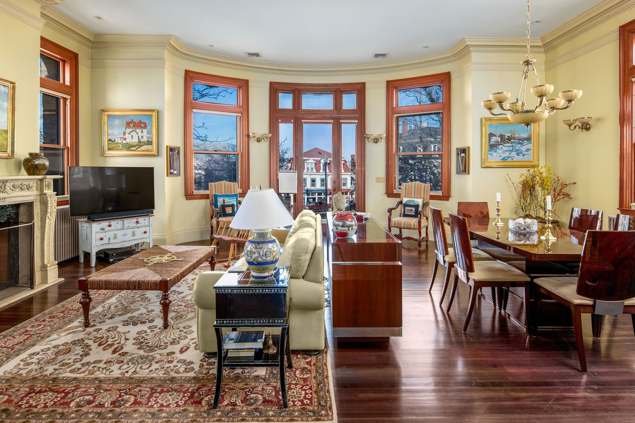 Living and dining rooms 18 Jewett Street Rockport MA