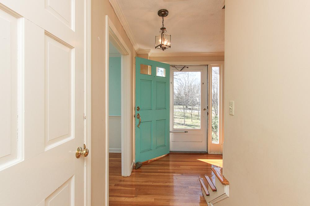 Foyer with front door open 26 Burnham Road Wenham MA